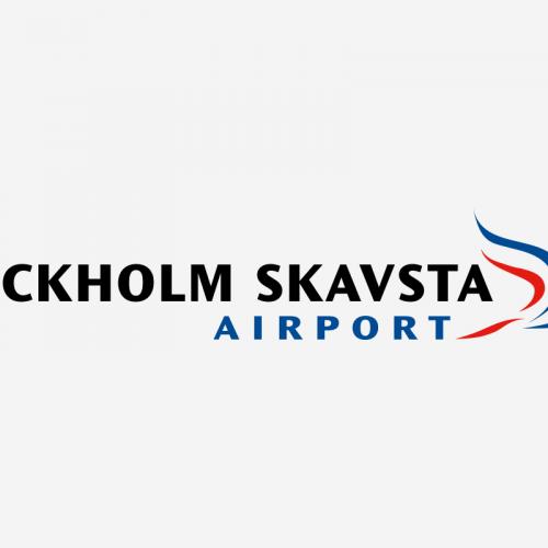 Stockholm Skavsta Airport kund case logo