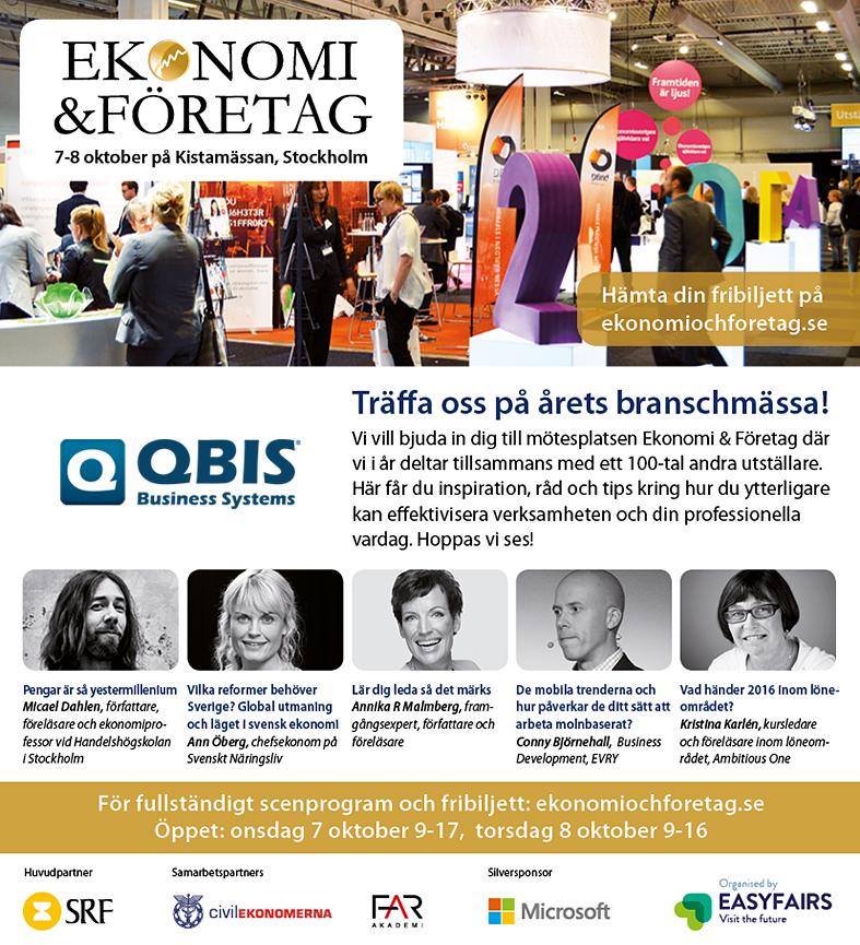 QBIS på Ekonomi & Företag 2015, Kistamässan