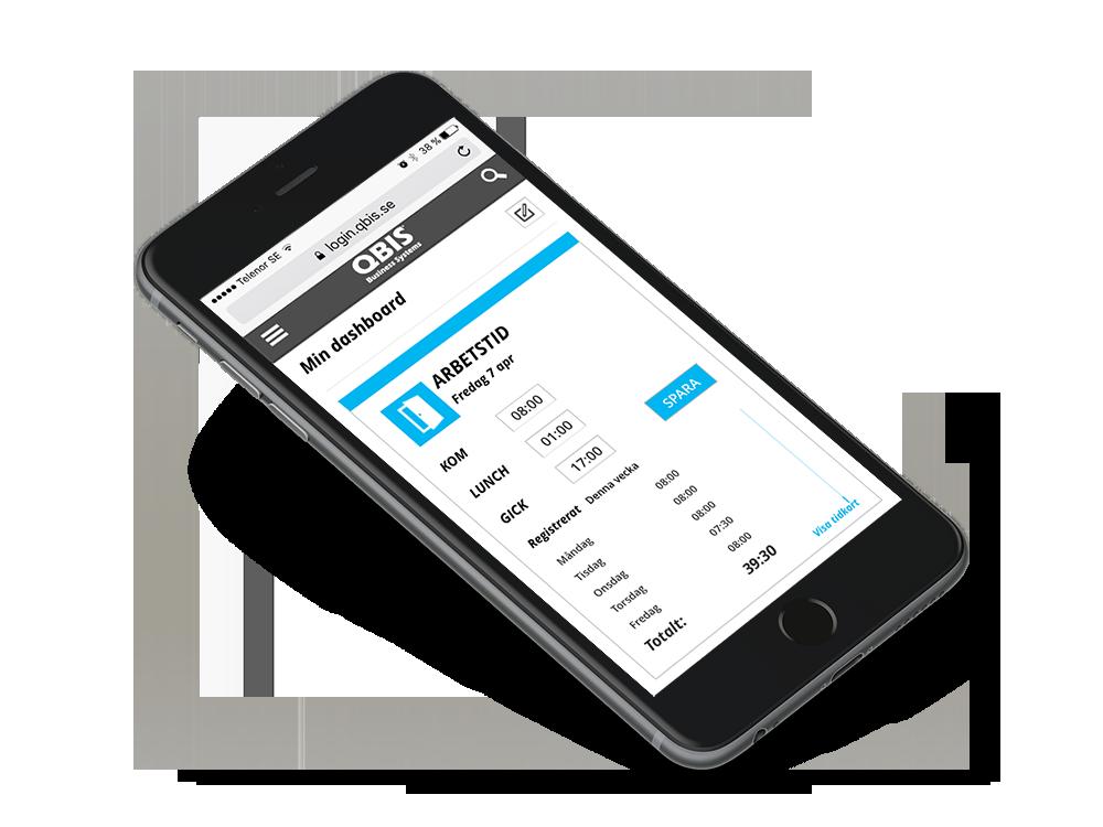 Tidrapportering i QBIS enkelt via din smartphone