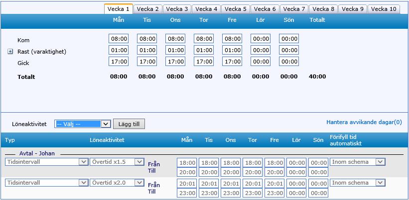 Schemaläggning i QBIS