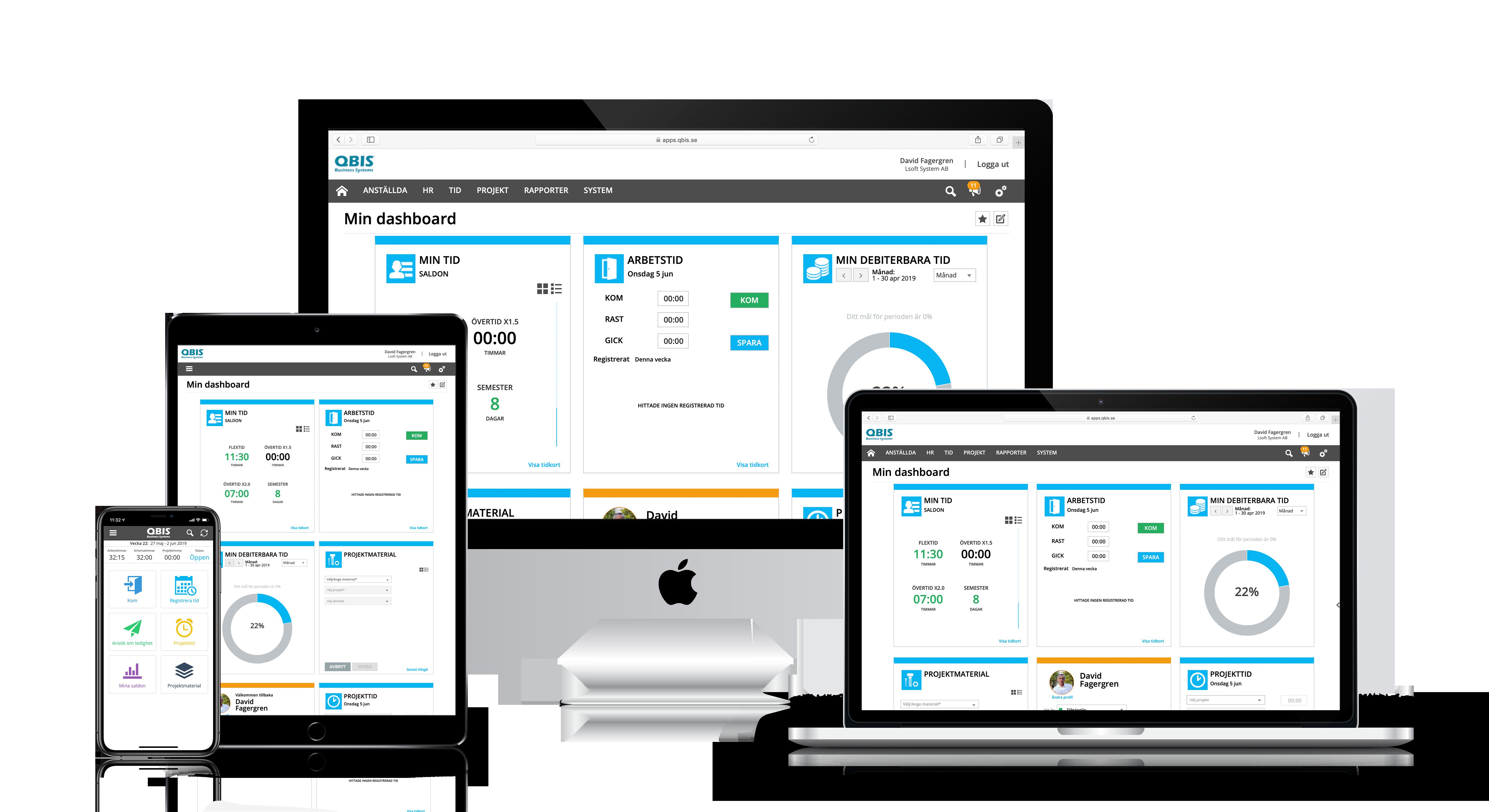 QBIS webbaserat tillgängligt på flera enheter