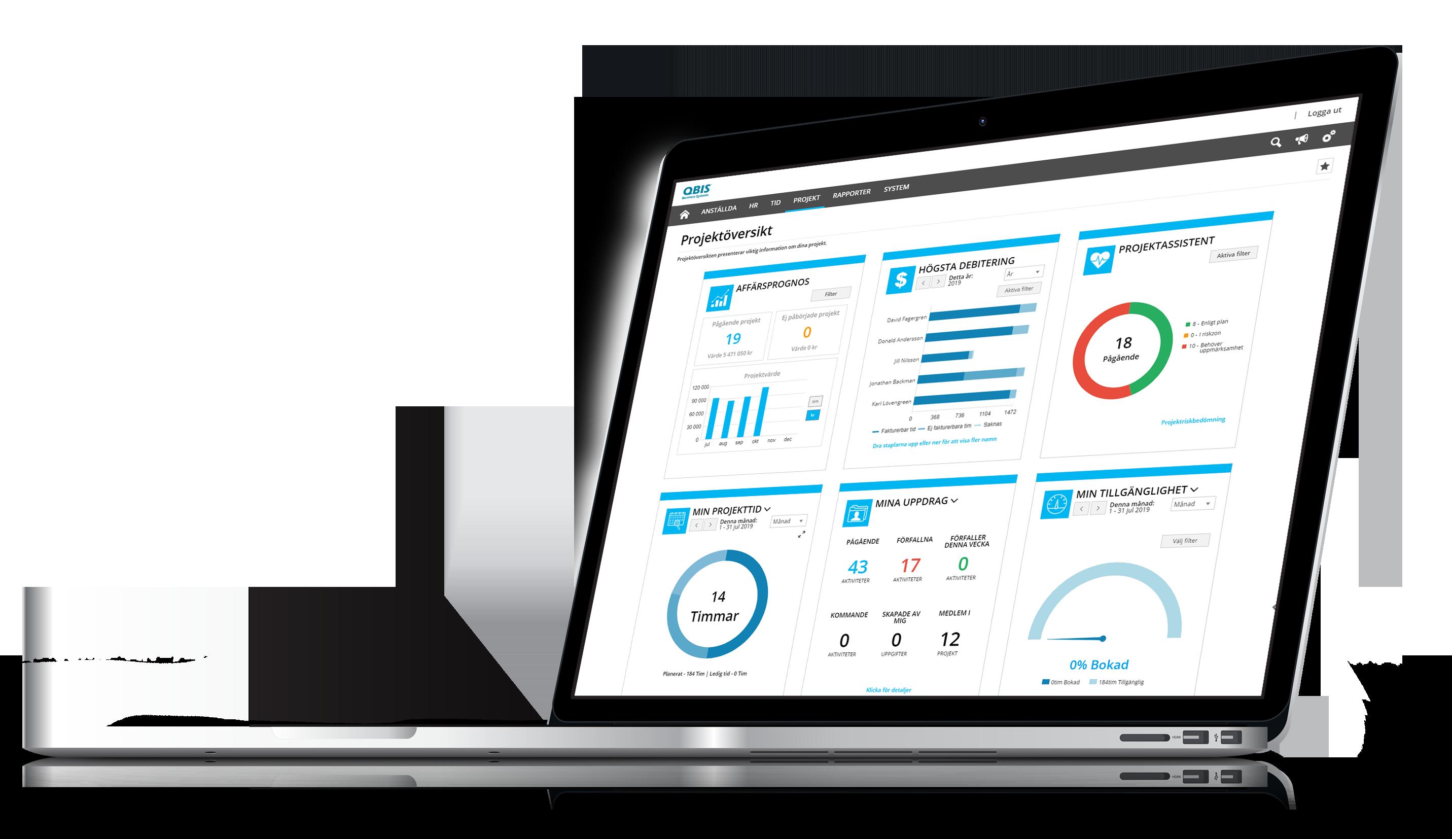 Projekthantering med widgets inom QBIS Projekt
